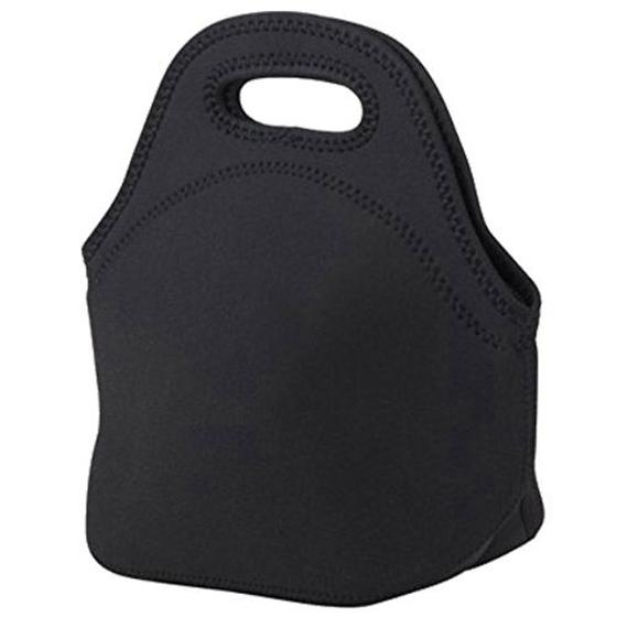 Mini Rubber Lunch Bag Lunch Bags Thermal Bag Cooler Bag, Tote Black