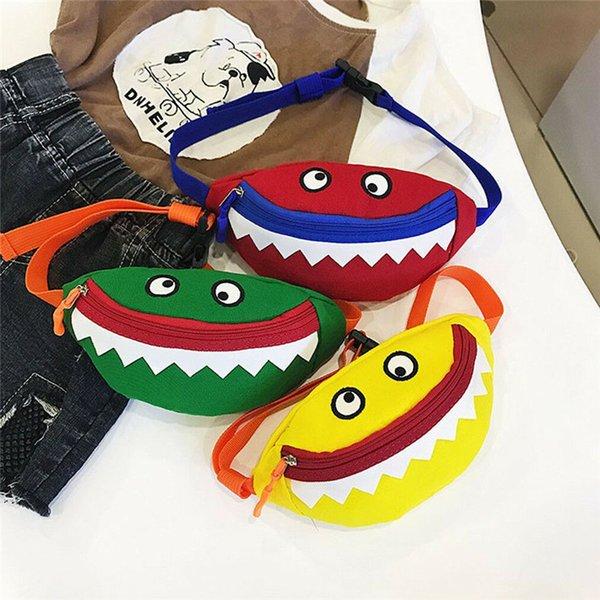 2019 venta caliente niños bebés niñas juguetes lindos mochilas de peluche moda ocio pequeño monstruo de algodón mini bolso fanny paquete cinturón bolso