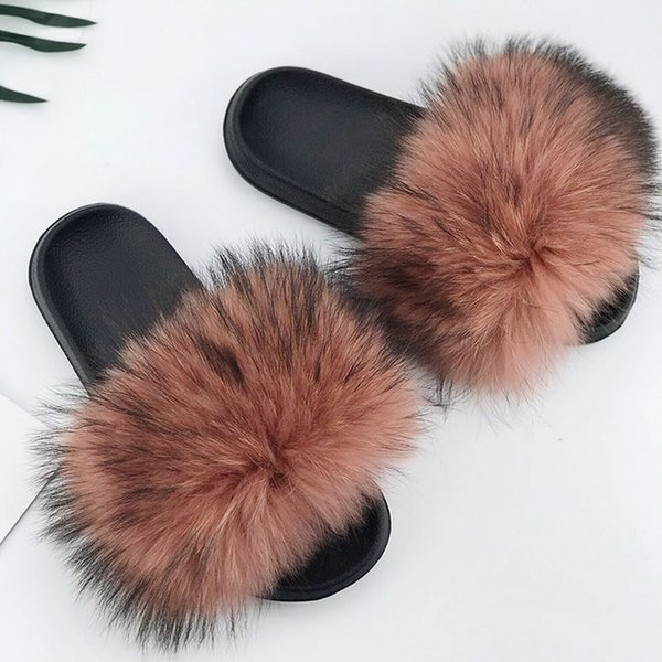 Raton laveur slippers_24 fourrure