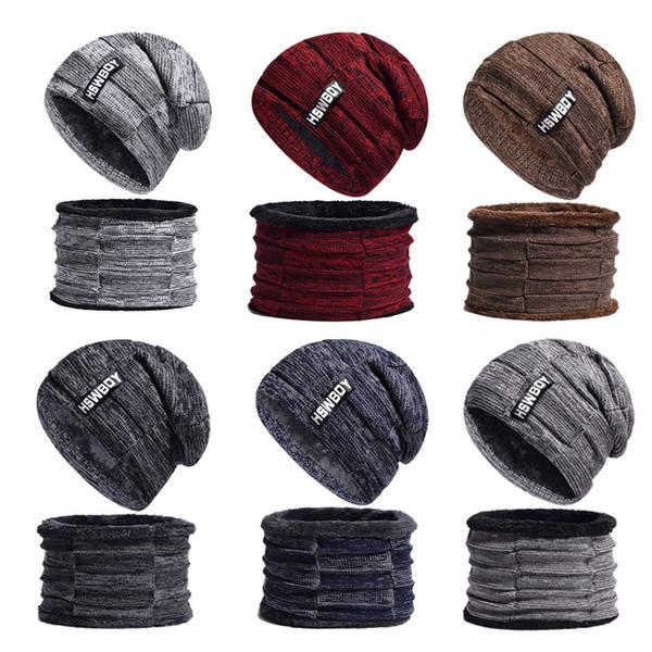 Дизайнерская шапка и шарф Набор Baby Boy Одежда Новая мода Смешивание вязаного мальчика Смешанный цвет Кашемировая шерсть Покупка Осень Зима 43