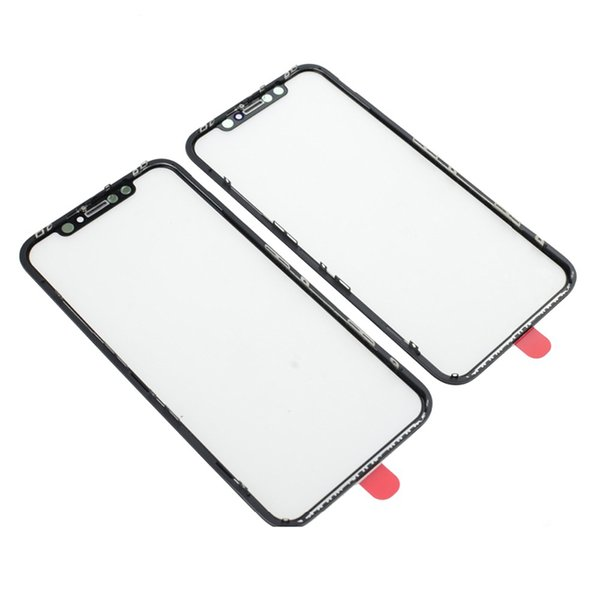 Front Screen Outer Glass Len with OCA + Bezel Frame Assembly for iPhone XR Touch Panel Replacement Repair Parts