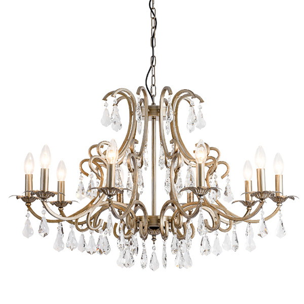 American Country Chandelier Living Room DiningRoom Personality Crystal Light Retro Candle Chandelier New Bedroom Crystal Chandelier Lighting