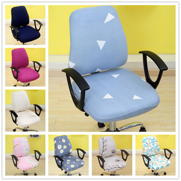 Universal Armchair Covers Swivel Computer Chair Covers Stretch Spandex Chair Protector Home Office Seat Chair Cases