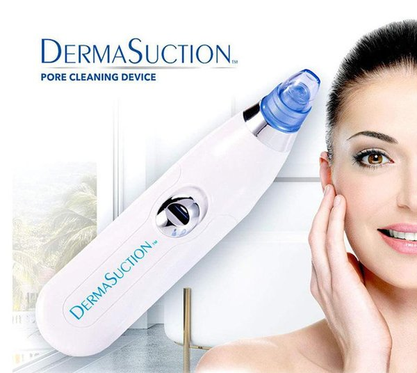top popular New DermaSuction Remover Facial Pore Cleaner Electric Pore Vacuum Extraction Removal Rechargeable Skin Peeling Machine DHL 2021