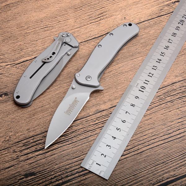 New Kershaw Zing 1730ss Titanium Tactical Folding Knife 58HRC Camping Hunting Hiking Survival Pocket Utility EDC Tools Xmas Gift