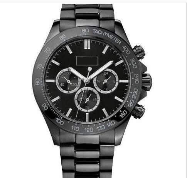 Reloj para hombre 2019 44mm Dial negro Acero inoxidable Cronógrafo Reloj de cuarzo para hombre 1512961 + caja original