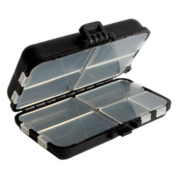 9 Grids Outdoor Lures Bait Storage Case Square Tackle Fishing Gear Plastic Multipurpose Portable