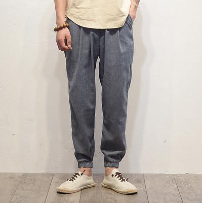SH51 Серо-синие брюки