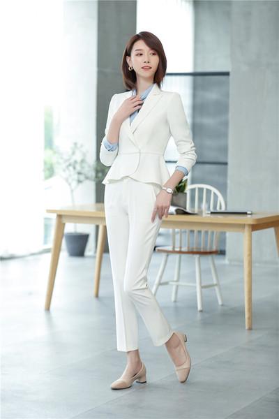 White pant suit
