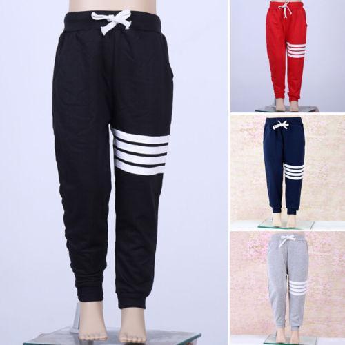 Pudcoco Boy Girl Sports Pants 1Y-7Y Baby Boy Girls Sports Pants Toddler Kid Sweat Pants Joggers Elastic