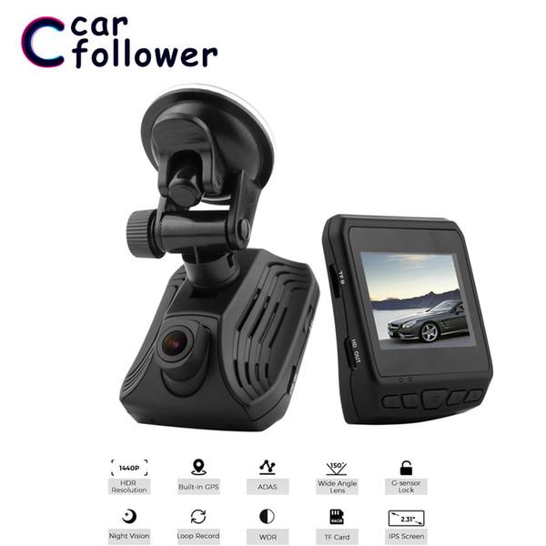 2.31 pulgadas LCD DVR FHD 2560 * 1440P Mini coche DVR ADAS GPS Navigation Dash Camera WDR Parking Recorder Loop Recording Dash Cam