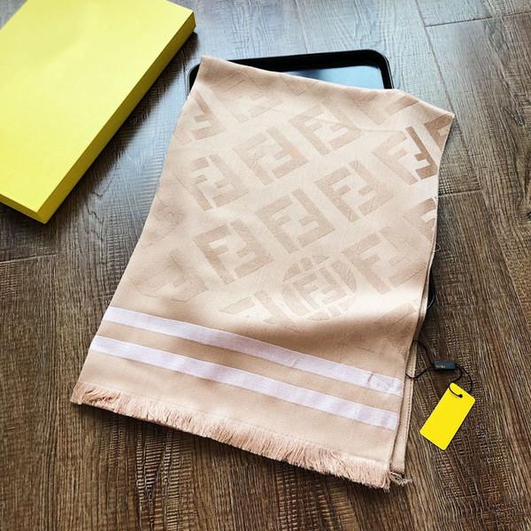 Top designer lenço de moda senhora de luxo primavera fio de ouro cachecol com etiqueta clássico coringa macio confortável 180 * 70 cm venda quente atacado