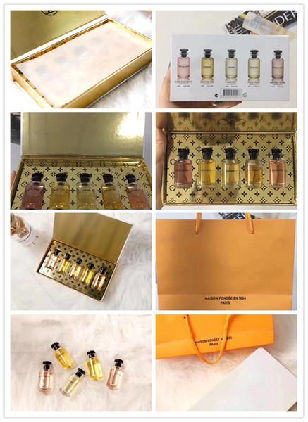 Em estoque Parfum para o Homem Amostra de Perfume kit 7 em 1 Por Frasco 10 ml Marca VL Fragrâncias Perfume Qualidade superior frete grátis