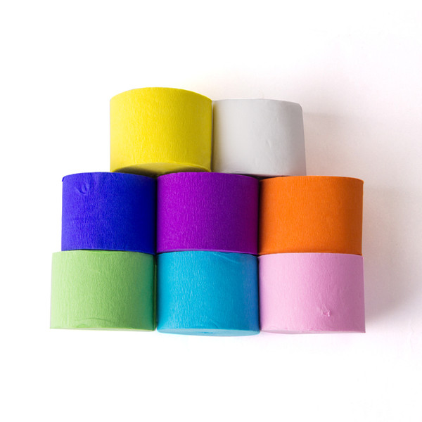 10rolls 100m Crepe Paper Streamers Diy Party Decoration For Kids Birthday Party Marriage Wedding Baby Shower Backdrop Wedding Chair Covers And Sashes