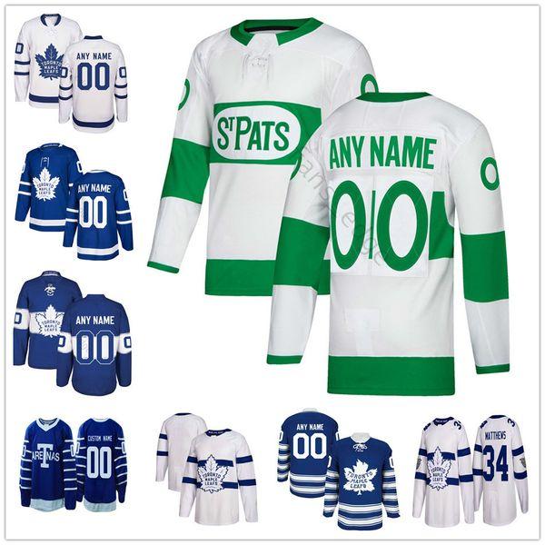 Özel Toronto Maple Leafs 43 Nazem Kadri 12 Patrick Marleau 44 Morgan Rielly 91 Tavares 34 Matthews Erkek Kadın Çocuk Gençlik Hokey Formaları