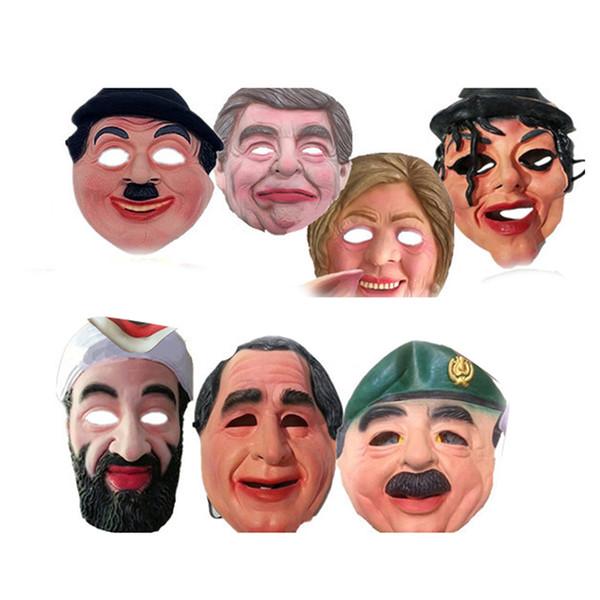 Halloween Celebrity Man Visage Masque Complet Visage Respirant Masques En Latex Halloween Mascarade Parti Ornement Masque Adulte