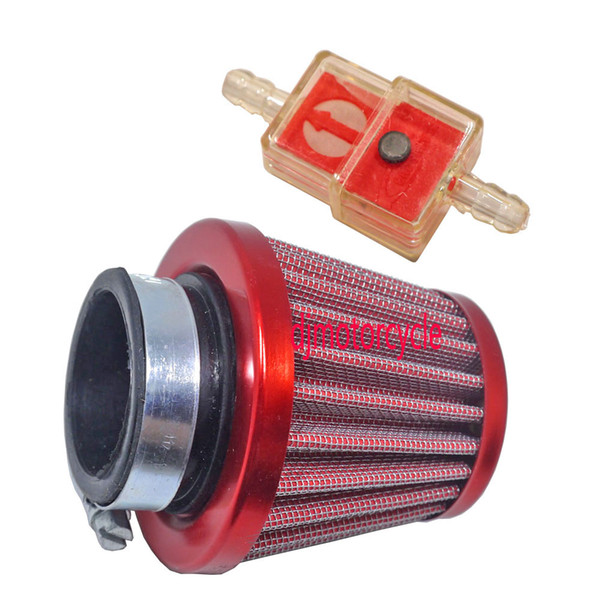 38mm 44mm Air Filter Intake Induction Kit Universal for Off-road Motorcycle ATV Quad Dirt Pit Bike Mushroom Head Air Filter Cleaner