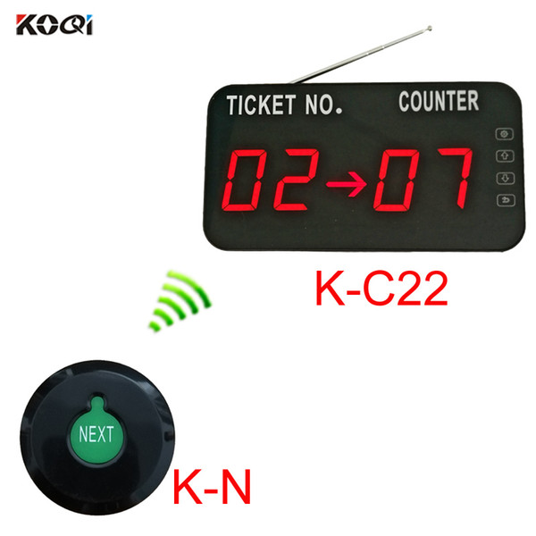 Queue Calling System with K-N Ultra-thin button can add the number one by one and K-C22 display