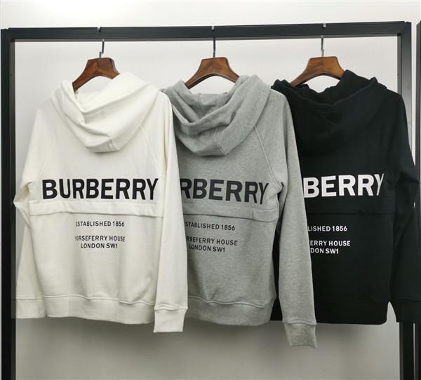 19fw outono Novo design de marca de luxo BBR Haf Zip grande pacote de camisola com capuz Homens Mulheres Moda casual Streetwear Camisolas Ao ar livre camisas