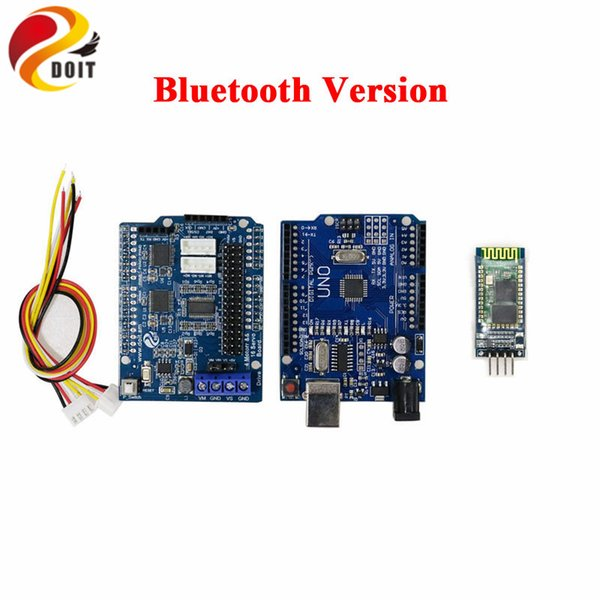 WiFi/Bluetooth/PS2 RC 4wd Smart Car Chassis Kit with R3 Board+Motor Driver Board for Arduino DIY Remote Control Robot