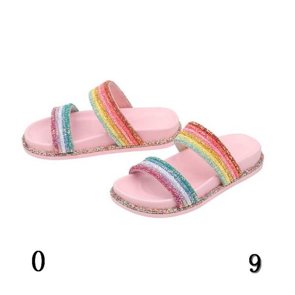 Designer Sandales avec Stripes Rainbow et mode confortable Chaussons chaud Vente d'été coloré Hot Style Mode bateau libre #