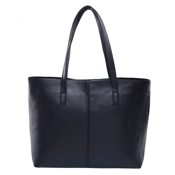 All Match Fashion Leather Handbag Simple Style Shoulder Bags For Women Gray /black Large Capacity Casual Tote Bags High Quality