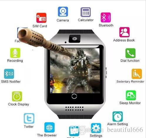 Brand Smart Watch Digital Wrist with Men Bluetooth Electronics SIM Card Sport Smartwatch Camera For iPhone Android Phone