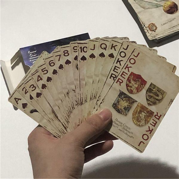 Harri Potter Cartes à jouer Cartes de film drôles pour jeu de société Belle collection de jeux de cartes English Poker Card