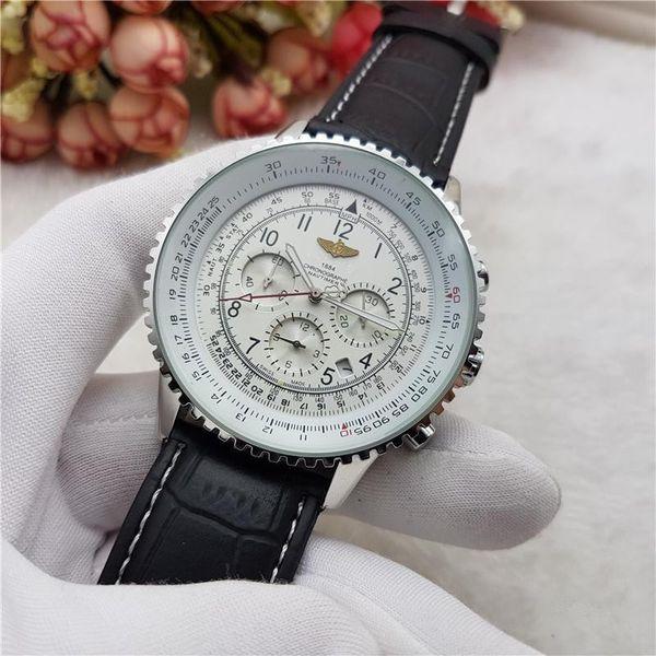 Relógios de luxo dos homens relógio de marca de 6 pinos full-featured running segundos relógio dos homens relogio masculino mens relógios de marca de luxo relógios