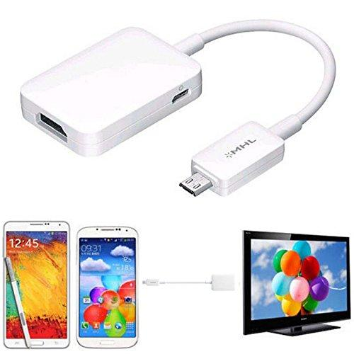 Micro USB MHL 2.0 To HDMI HDTV Adapter Cable to the TV Monitor showing 1080p HD video for Samsung Galaxy S3, S4, S5 and Note 2, Note 3