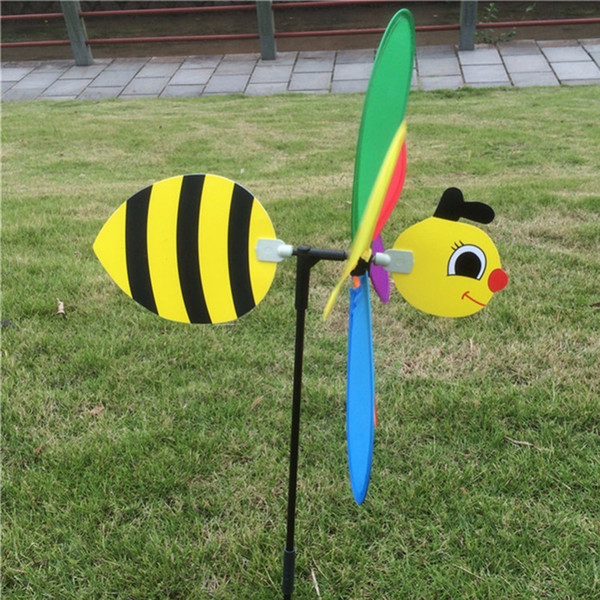 Cute 3d Insect Large Animal Bee Windmill Wind Spinner Whirligig Yard Garden Outdoor Lawn Decor C42 C19041702