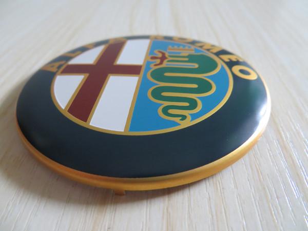 500pcs 3D Nuovo Car Styling 74mm Oro Nero Argento ALFA ROMEO Anteriore Bonnet / Boot Badge / Emblem Sticker