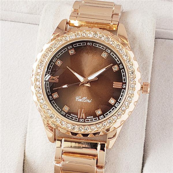 Nueva moda, hombres de negocios grandes, con diamantes en la mesa de acero, regalos de la fiesta, relojes deportivos al por mayor casual simple