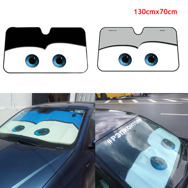 Eyes Heated Windshield Sunshade Car Window Windscreen Cover Sun Shade Auto Sun Visor Car-covers Windscreen Cover Sun Shade Visor