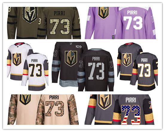 Vegas Golden Knights jerseys #73 Brandon Pirri jersey ice hockey men women gray white black Authentic winter classic Stiched gears Jersey