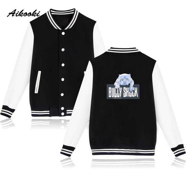 112507641ddc5 Aikooki Bully Dog Baseball Jacket Women Men Garment Fashion Pink Cute Chic  Autumn Men Jacket Women Hoodie Clothes Mens Jackets Coats Jacket Tops From  ...