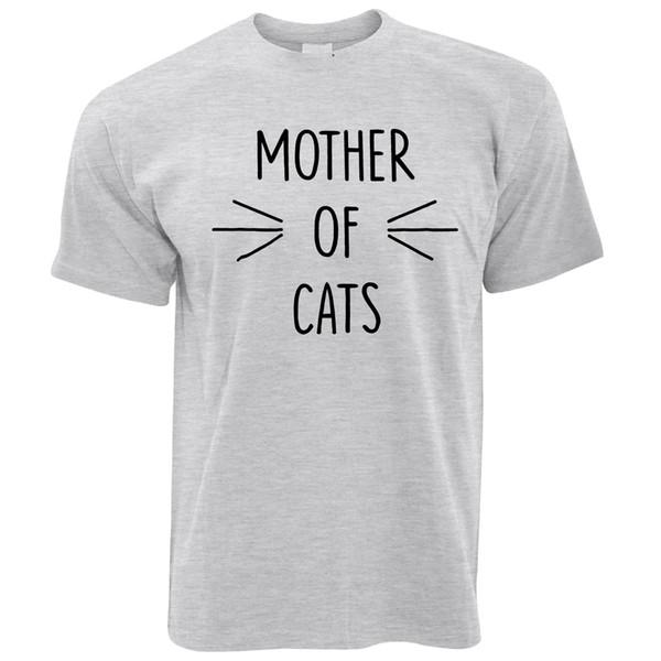 Novidade Pet T Shirt Mãe De Gatos Slogan Único Gatinho Joke Animal