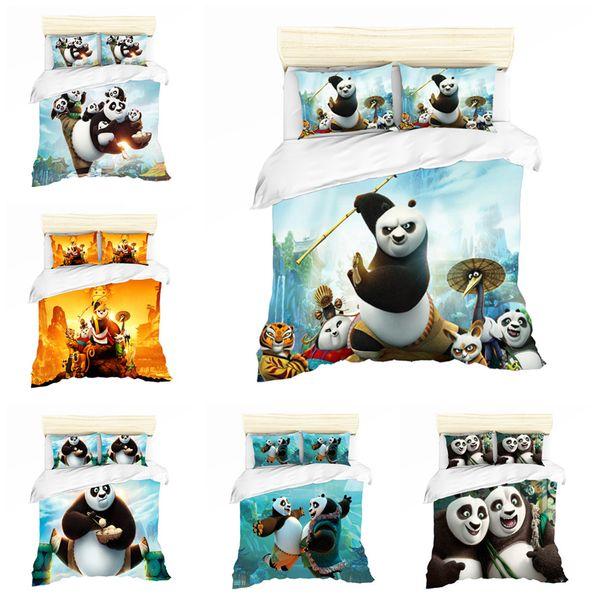 Acheter Dessin Animé 3d Kung Fu Panda Conception Literie Ensemble Housse De Couette Ensemble De Housse De Couette Taie Doreiller Double Pleine Reine