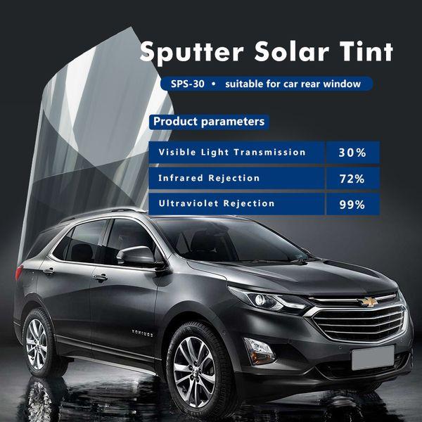 Yüksek kaliteli kendinden yapışkanlı% 99 UV ret 1.52x3m (60inx10ft) ile SPS Serisi pencere tonu filmi