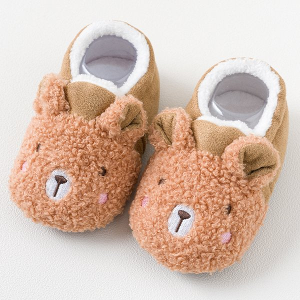 Bear Boy Baby Shoes Grils Kids Toddler Babies First Walkers High Quality Newborn Winter Plush Russian Style Canada