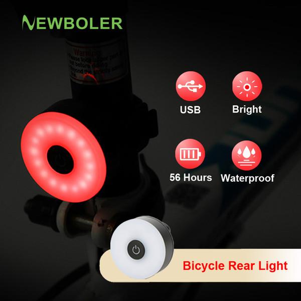 NEWBOLER LED Luce posteriore per bici USB a pagamento Bicicletta IPX6 Casco MTB impermeabile Fanale posteriore per l'accessorio Cyclette da corsa