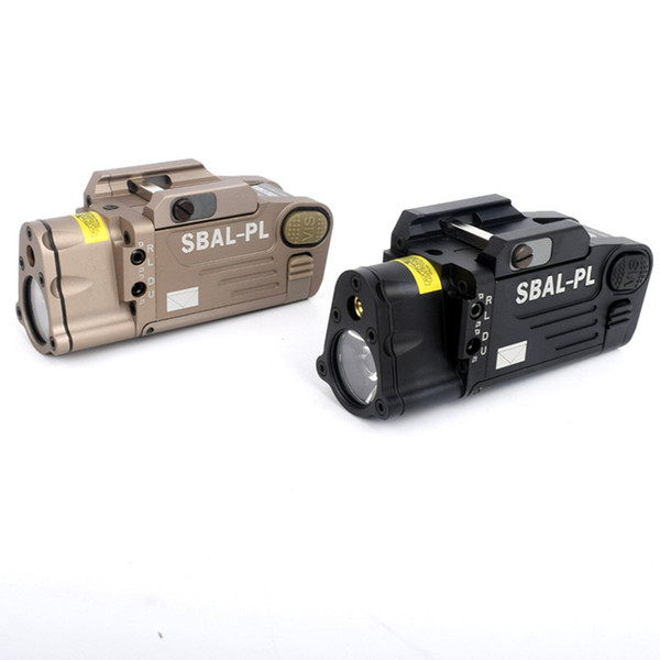 Luces LED de SBAL-PL de caza para acampar al aire libre con láser rojo pistola rifle linterna constante instantánea linterna estroboscópica