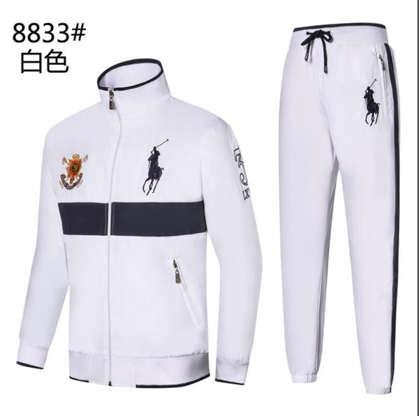 Мужские толстовки и толстовки Спортивная одежда Man Polo Jacket брюки Jogging Jogger Устанавливает водолазку Спортивные спортивные костюмы Спортивные костюмы