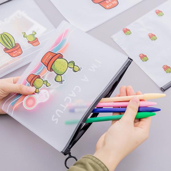Nuovo modello del fumetto creativo unicorno penna sacchetto di stoccaggio scuola studente forniture per ufficio regali di Natale carino leopardo rosa