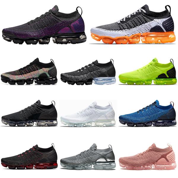 Nike air vapormax 2.0 flyknit 2020 Night Purple Fly hombres mujeres Zapatillas Running Triple negro blanco Knit outdoor para hombre zapatillas deportivas zapatillas de deporte