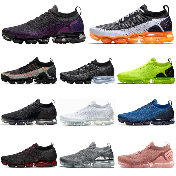 Nike air vapormax 2.0 flyknit 2020 Night Purple Fly uomo donna Scarpe da corsa Triple black white Mango Oreo Knit outdoor Sneakers da uomo traspiranti sportive