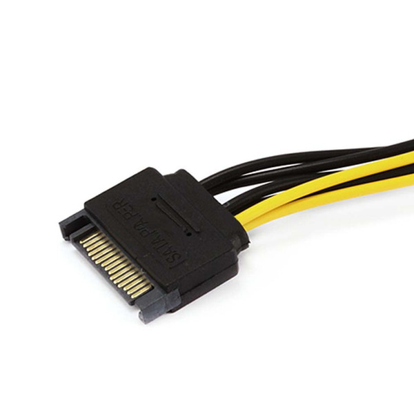 SATA Güç Kablosu 15 Pin 6 Pin PCI EXPRESS PCI-E Sata Grafik Dönüştürücü Adaptör Video Kartı Güç Kablosu LHY Satış
