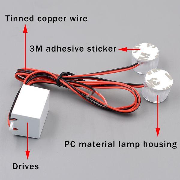 best selling Mini Dual Motorcycle Eagle Cat Eye Light 12- 85V Indicator Lamp Tail Warning Signal Light White Constantly Bright Burst Flash