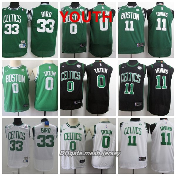 best service b127a f9177 2019 Youth Boston Jersey Celtics Kyrie Irving Jayson Tatum Jaylen Brown  Larry Bird Stitched Baketball Jersey Black White Green From Top_07, $18.58  | ...