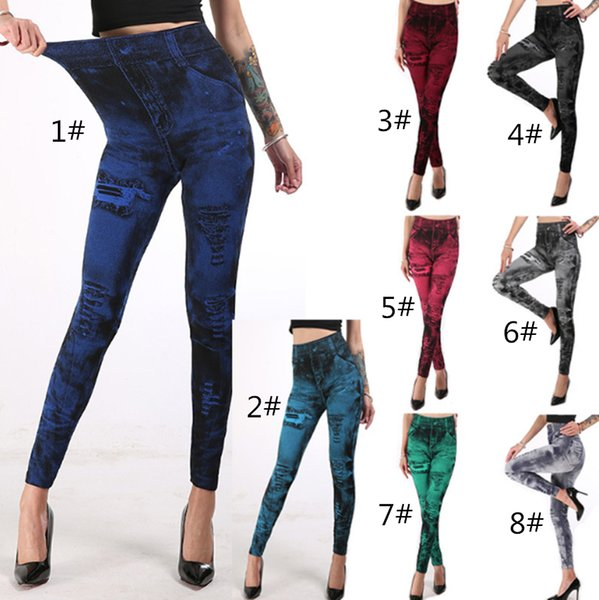 Trabalhar Fora Leggings Moda Cinza Estilo Demin Legging Leggings Mulher Moda Super Jeans Tipo Leggings Jeans LE398